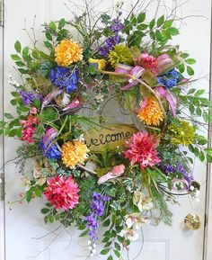 Double DVD Video Set, How to Make a Beautiful Wreath, Instructional DIY, How-to Make Your Own Beautiful Spring/Summer Wreath, Video Make Your Own Wreath, How To Make Wreaths, Door Wreaths, Grapevine Wreath, Summer Wreath, Spring Wreaths, Spring Crafts, Flower Arrangements, Floral Wreath