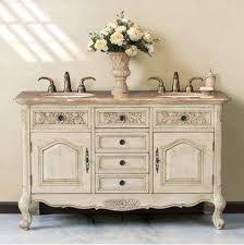 Cómoda estilo Luis XV en blanco con espejo.  Muebles Antique Nouveau  Pinte...