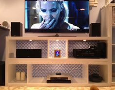 Sarah's Simple Yet Stylish IKEA Hack 'n Stack TV Stand IKEAhackers