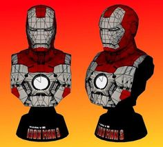 PAPERMAU: Iron Man - Mark V Bust Decorative Paper Model - by Unfold Brazil