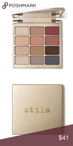 Stila Eyes Are The Window Shadow Palette In this Spirit palette there are 12 shadows to illuminate your inner beauty with Rose, yellow and white-gold colors, the shadows will inspire intrigue and delight ~ shades: kitten, puppy, pigalle, oasis, jezebel, barefoot, wheat, golightly, espresso, chinois, slate and pewter ~ new in box, authentic, never used or swatches ~ Stila Makeup Eyeshadow