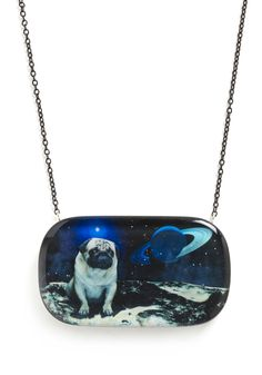 Pugs In Space Necklace