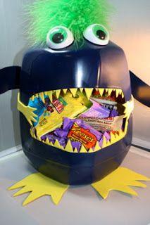 Milk Jug classroom candy holder. #diy #milkjugs