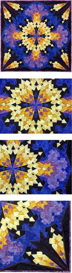 Quilt, Strip Pieced, Kaleidoscope, Rita Hutchens, Video: www.youtube.com/watch?v=Gl0yo9-1omc&list=UUtEuyNc9YD-XVdjgWet7H5A
