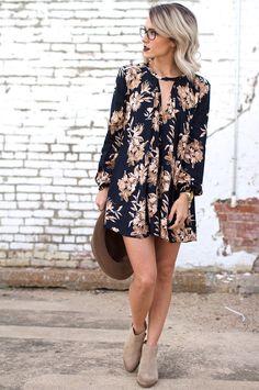 Short dress and booties. Jo & Kemp