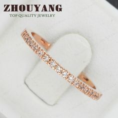 Top Quality Gold Concise Classical CZ Diamond Wedding Ring 18K Rose Gold Plated Austrian Crystals Wholesale ZYR132 ZYR133-in Rings from Jewelry on Aliexpress.com   Alibaba Group