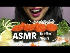 ASMR Tobiko Nigiri (Crunchy Flying Fish Roe) NO TALKING Eating Sounds | SAS-ASMR - YouTube