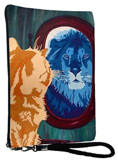 2017 Wristlets Cat Large Wristlet - From My Original Painting, Salvador's R...