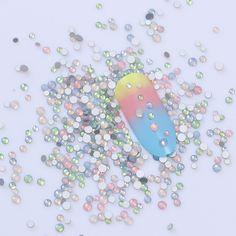 BORN PRETTY Colorful Opal Rhinestone Multi-size Flat Bottom 3D Manicure Nail Art Decoration from bornpretttystore.com  #naildesign #nailart