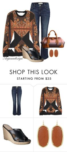 """""""Daily Jeans (Wednesday)"""" by arjanadesign ❤ liked on Polyvore featuring River Island, Givenchy, Merona, Kendra Scott and denim jeans"""