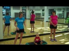 Try these simple moves at home to get a good cardio workout accomplished during any stage of pregnancy. Post Pregnancy Workout, Pregnancy Fitness, Pregnancy Info, Prenatal Pilates, Prenatal Workout, You Fitness, Health Fitness, Excercise, Bump