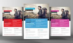 Tour Vocation Flyer Template by Business Templates on @creativemarket