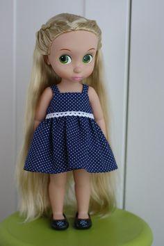 9Euro Robe de poupée à pois bleu marine animateur Disney