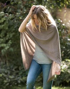Superfine Cashmere Poncho - everyone needs a good wrap when it gets chilly in the office