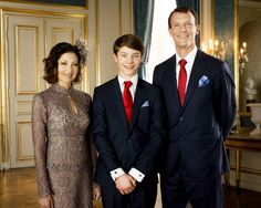 kongehuset.dk: Confirmation of Prince Felix, April 1, 2017-Prince Felix with his parents, Countess Alexandra of Frederiksborg and Prince Joachim