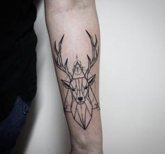 #tattoo #tattooart #deer #deertattoo #linework #1rl #ink #inkedgirl #eternalink #inkmachines #Rtats #jaer_X #followme #тату #татуировка