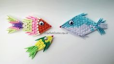 3d Origami Magnets 3d Origami Fish Magnets by ArtsyHandsCreations