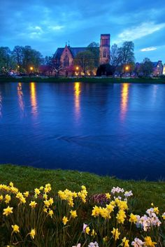 Inverness Cathedral - River Ness, Scotland Highland.