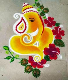 Rangoli Designs Simple Diwali, Simple Rangoli Border Designs, Rangoli Simple, Indian Rangoli Designs, Rangoli Designs Latest, Rangoli Designs Flower, Rangoli Patterns, Free Hand Rangoli Design, Small Rangoli Design