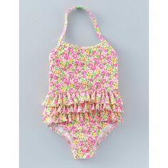 Boden Badeanzug mit Rüschen Pink Mädchen Boden