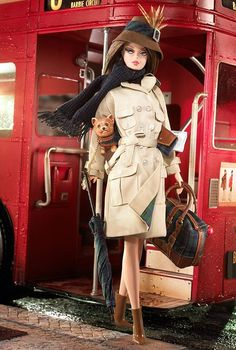 True Brit ... trenchcoat and terrier... ahh