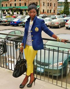 blazer/yellow pants
