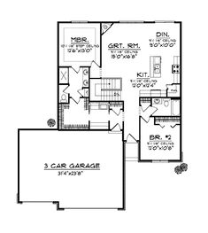 Plan 81621AB: Great From the Front and Back | Mud rooms, Open plan ...