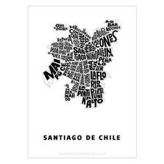 Poster Santiago de Chile - frame wall