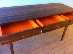 Solid Walnut Desk / Console Table by STORnewyork on Etsy