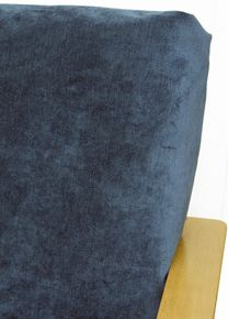 Futon Cover In Blue Velvet Fabric Is Simply Gorgeous Features Luxurious Short Pile Solid A Versatile Shire Color