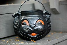 Vintage Halloween Candy Pail