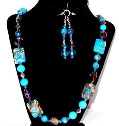 MAJESTIC IMPERIAL JASPER NECKLACE AND EARRINGS #Handmade #Beaded