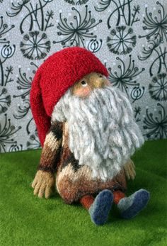 Tomte with a knit sweater and hat