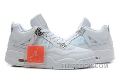 "huge selection of 2676b 7fb89 New Air Jordan 4 Retro ""Silver 25th Anniversary"" White Metallic Silver  Online WZJbAMy"