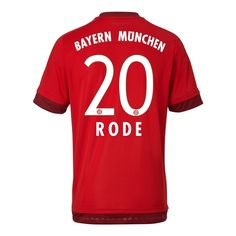 Bayern Munichen Jersey 2015/16 Home Soccer Shirt #20 RODE for $21 on Soccer777.net
