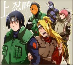 Itachi, Deidara, Tobi and Kisame Jonin! Naruto Shippuden Sasuke, Anime Naruto, Naruto Akatsuki Funny, Hinata, Sasori And Deidara, Comic Naruto, Anime Akatsuki, Naruto Sasuke Sakura, Sarada Uchiha