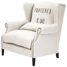 I pinned this Napoleon Wing Back Chair from the 4 Men 1 Lady event at Joss and Main!