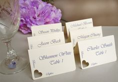 Wedding place cards escort cards seating cards  by PassionArte,