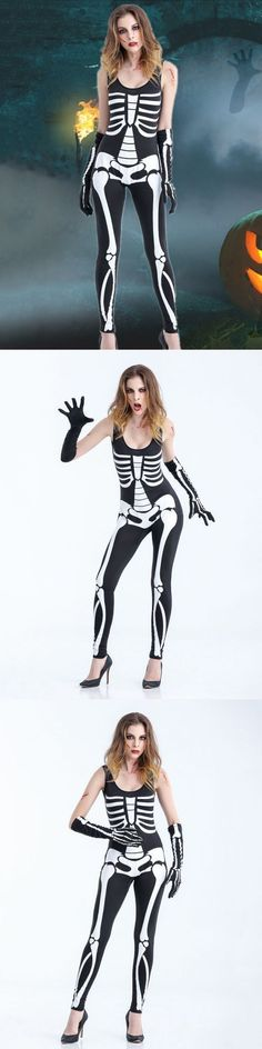 220da7cd8e Jumpsuits y playsuits halloween female clothes cosplay playsuit skeleton  costumes  jumpsuits  and  playsuits