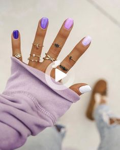 #ombrenails Stylish Nails, Trendy Nails, How To Do Nails, My Nails, Purple Ombre Nails, Cute Summer Nails, Fire Nails, Nail Jewelry, Best Acrylic Nails