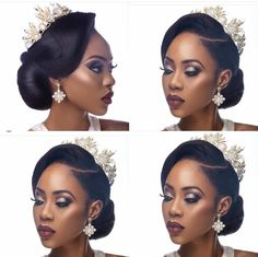 Wedding Hairstyles For Black Women Magnificent Beautiful Pin Up For The Bride Weddings On Pointafrican American