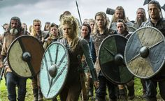 vikings - lagertha with erlendur and kalf