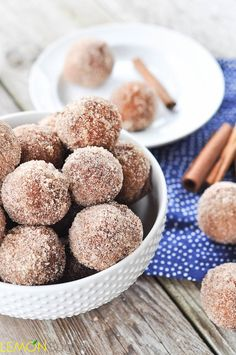 Applesauce Doughnut Holes I am not big on frying...in fact, I really don't do it, but think I would make an exception to try these doughnuts made with applesauce.
