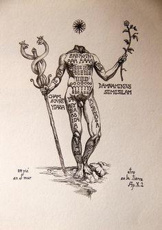 Occult Symbols, Occult Art, Occult Tattoo, Alchemy Tattoo, Arte Peculiar, Esoteric Art, Esoteric Tattoo, Michael Johnson, Alchemy Art