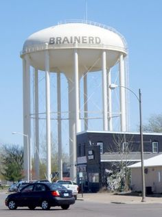 Water Tower in Brainerd, MN I use to drive up here all the time