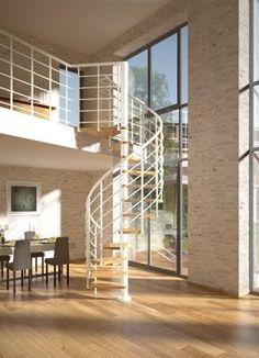 Dolle Spindeltreppe Oslo Eiche versiegelt Unterkonstruktion und Geländer weiß 120 cm Außendurchmesser online kaufen   bausep.de Oslo, Divider, Scale, Stairs, Room, Furniture, Home Decor, Wood Windows, Spiral Staircases