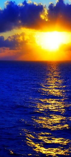 Sunrise over blue ocean #beaches #beach #sunset Sunrise