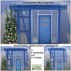 Beams for walls and ceilings by Christine1000 at Sims Marktplatz via Sims 4 Updates
