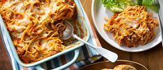 What a fun way to serve spaghetti! It's got all the fixin's…cheese, beef and Italian sauce, baked together in a casserole. It's also a great way to make use of leftover spaghetti. Baked Spaghetti, Spaghetti Recipes, Pasta Recipes, Beef Recipes, Dinner Recipes, Recipies, Campbells Soup Recipes, Leftover Spaghetti, Potatoe Casserole Recipes