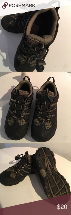 Keen Kids Waterproof Hiking shoes My son wore these shoes only once when we went do Big Basin Campground.  It has reflective lines along the shoelaces.  It could be worn on the trail or in the water. Keen Shoes Athletic Shoes